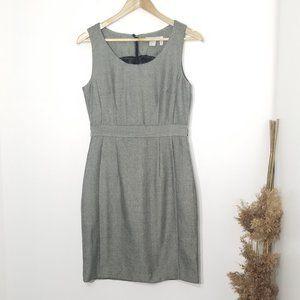 H&M   Herringbone Fitted Sheath Dress Gray Size 8